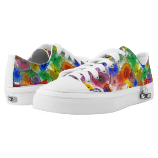 Bright Abstract Circles Low-Top Sneakers