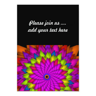 Bright Abstract Colorful Flower Card