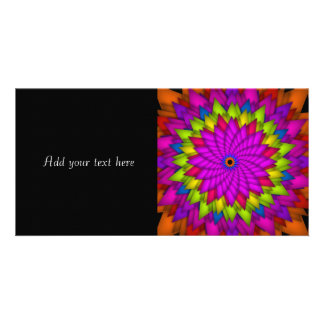 Bright Abstract Colorful Flower Photo Card Template