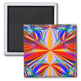 Bright Abstract Design Blue Red And Green Magnet