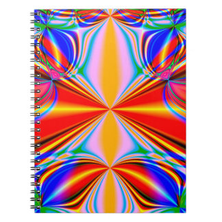 Bright Abstract Design Blue Red And Green Notebook