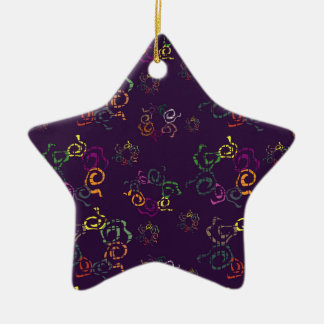Bright abstract elements ceramic ornament