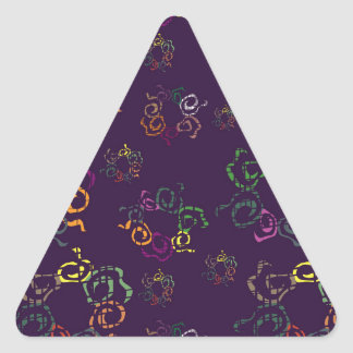 Bright abstract elements triangle sticker