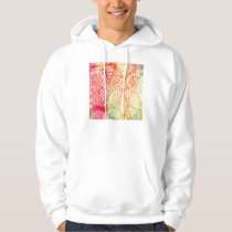 Bright Abstract Flower Power Design Hoodie