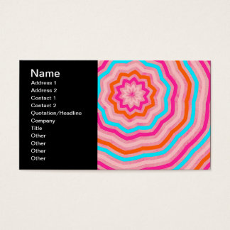 Bright Abstract Fun Flower in Orange Pink Teal Business Card