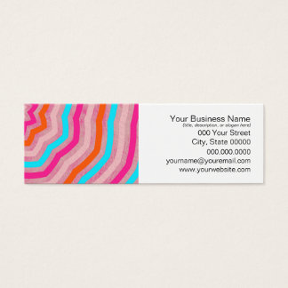 Bright Abstract Fun Flower in Orange Pink Teal Mini Business Card