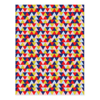 Bright Abstract Geometry Pattern Illustration Postcard