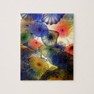 Bright Abstract Jelly Fish Jigsaw Puzzle