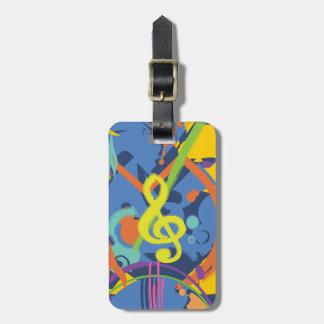 Bright Abstract music design Bag Tag