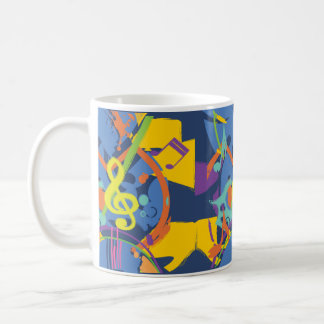 Bright Abstract music design Mugs