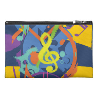 Bright Abstract music design Travel Accessory Bags