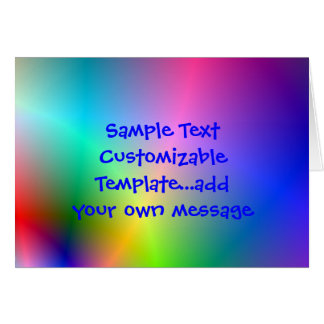 bright abstract page design, Sample TextCustomi... Card
