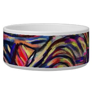 Bright abstract pet bowl