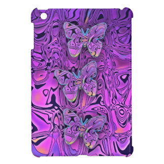 Bright Abstract Purple Butterflies Art Cover For The iPad Mini