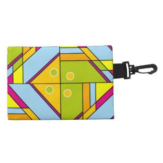 Bright abstract shapes pattern x6 accessory bag