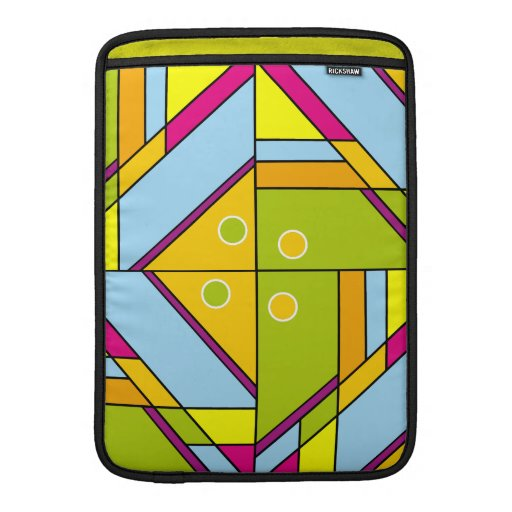 Bright abstract shapes pattern x6 MacBook air sleeves