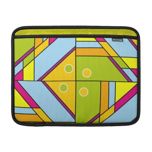 Bright abstract shapes pattern x6 sleeve for MacBook air