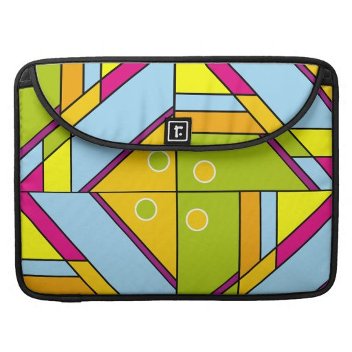 Bright abstract shapes pattern x6 MacBook pro sleeve