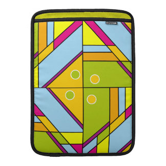 Bright abstract shapes pattern x6 sleeves for MacBook air