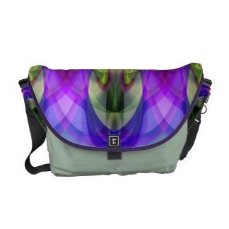 Bright Abstract Stained Glass Look Rickshaw Messen Messenger Bag