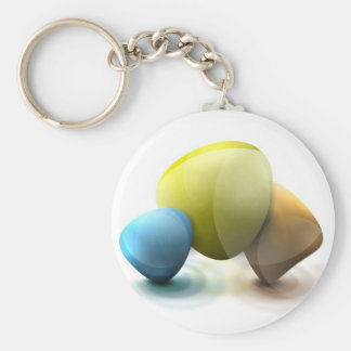 Bright Abstract Stones Keychain