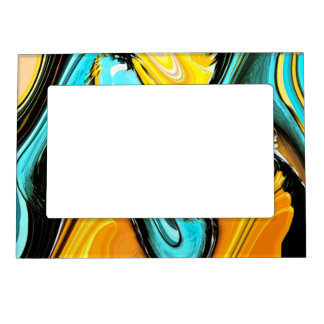 Bright Abstract Swirl Magnetic Frame
