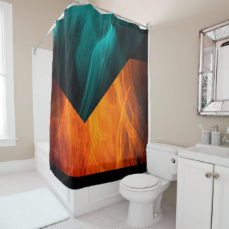 Orange Abstract Shower Curtains Zazzle