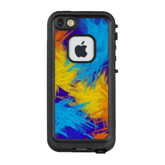Bright abstract watercolor blue, orange yellow LifeProof® FRĒ® iPhone 5 case