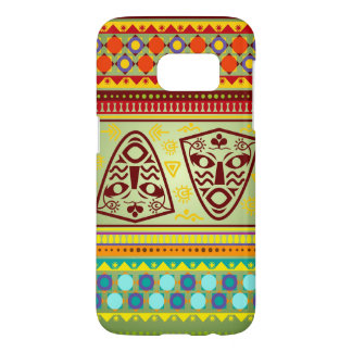 Bright African Mask Tribal Pattern Samsung Galaxy S7 Case