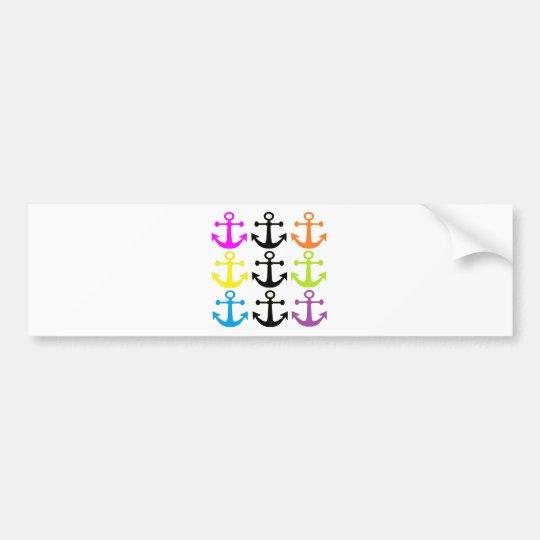 Bright Anchors Bumper Sticker