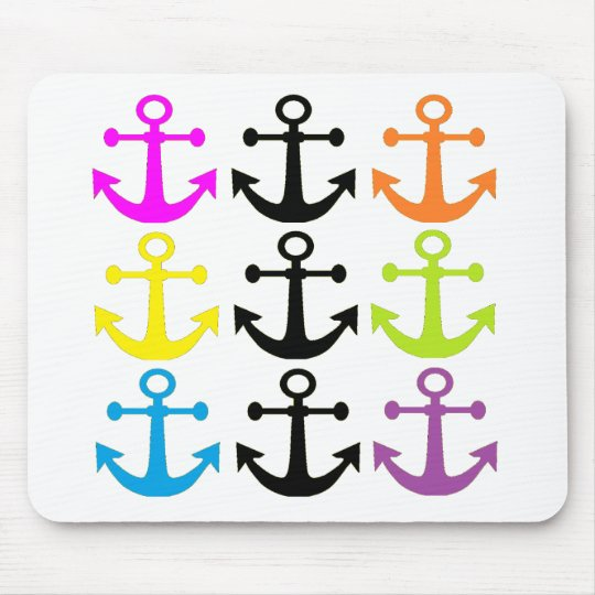Bright Anchors Mouse Pad