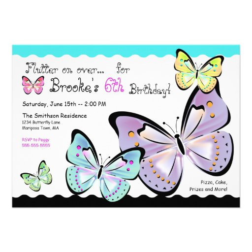 Bright and Beautiful Butterfly Invitation