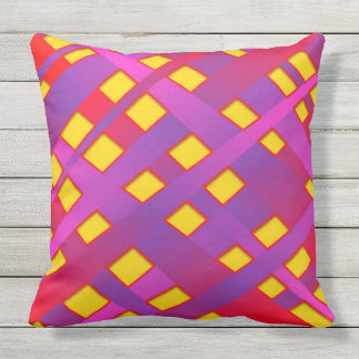 BRIGHT AND BOLD BANDS throw cushion