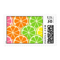Bright and Bold Citrus Slices Postage
