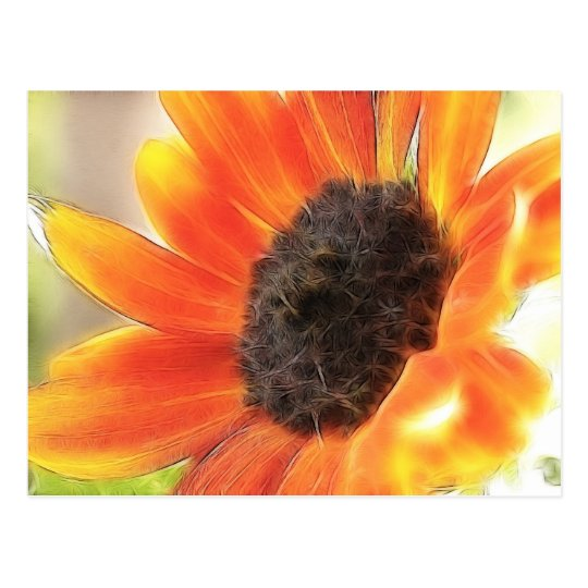 Bright and bold sunflower postcard