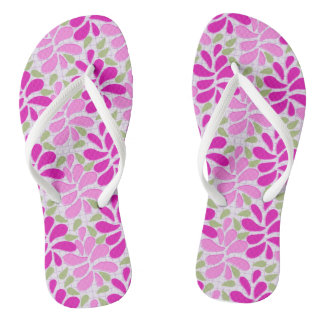 Bright and Cheerful Floral Design Flip Flop
