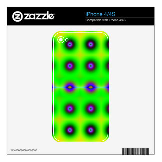 Bright and Cheerful Retro Fractal Pattern Decals For iPhone 4