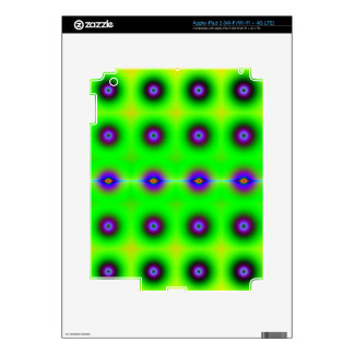 Bright and Cheerful Retro Fractal Pattern iPad 3 Decals