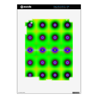 Bright and Cheerful Retro Fractal Pattern Skin For iPad 2