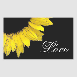 Bright and Cheerful Yellow Sunflower Wedding A08AE Rectangular Sticker