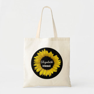 Bright and Cheerful Yellow Sunflower Wedding A09C Tote Bag