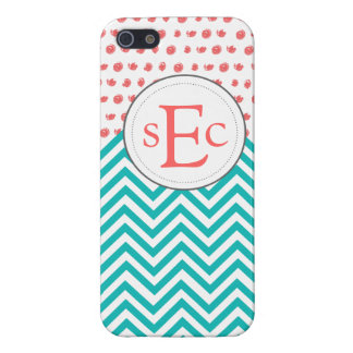 Bright and Cheery Chevron Polka Dot iPhone Case Cases For iPhone 5