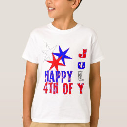 Bright and colorful 4th of July celebration design T-Shirt