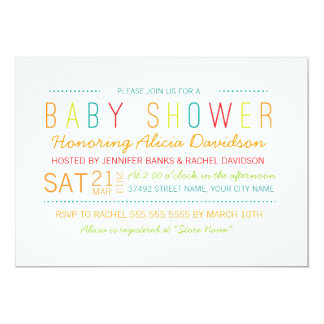 Bright and Colorful Baby Shower Invite