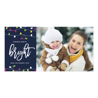 Bright and Colorful Christmas Lights | Christmas Card