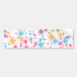 Bright and Colorful Floral Confetti Cake Design Bumper Sticker