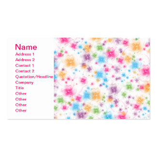 Bright and Colorful Floral Confetti Cake Design Double-Sided Standard Business Cards (Pack Of 100)