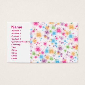 Bright and Colorful Floral Confetti Cake Design Business Card