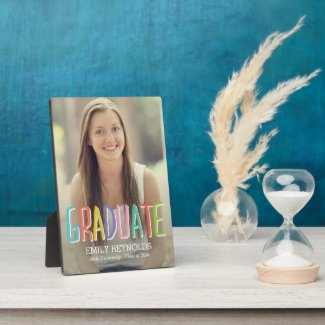Bright and Colorful Graduation Plaque
