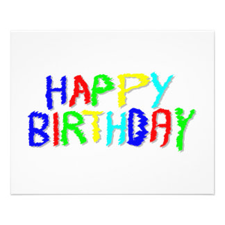 """Bright and Colorful. Happy Birthday. 4.5"""" X 5.6"""" Flyer"""